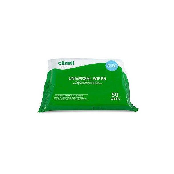 Clinell Universal Wipes - Desinfektionsservietter 50stk