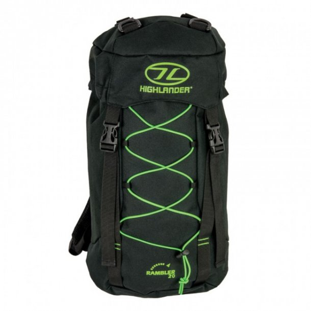 Highlander Rambler 20L Sort/Lime Rygsæk