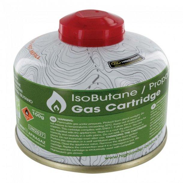 Gasflaske MINI m. ventil - 100g